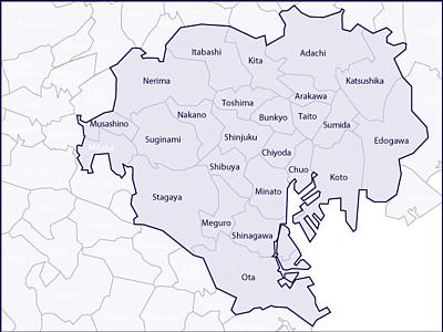 東京23区、武蔵野・三鷹市
